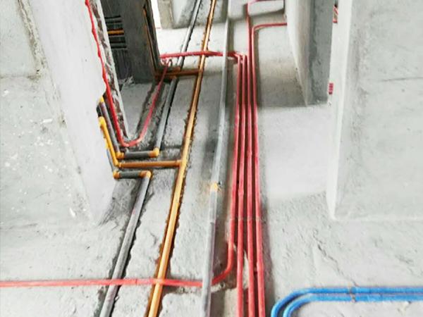 保利翡翠公馆在建工地之水电工程