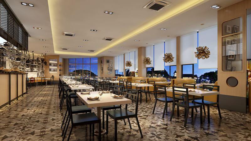 港式茶餐厅装修效果图-鲁班装饰